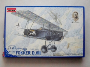 RODEN 1/72 033 FOKKER D.VII ALB EARLY