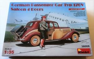 MINIART 1/35 38008 GERMAN PASSENGER CAR TYP 170V SALOON 4 DOORS