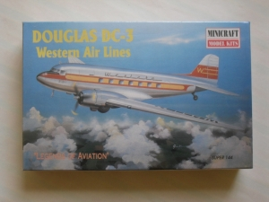 MINICRAFT 1/144 14458 DOUGLAS DC-3 WESTERN AIR LINES