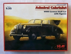 ICM 1/35 35471 ADMIRAL CABRIOLET GERMAN STAFF CAR WITH FIGURES