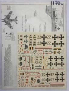 MODELDECAL 1/72 1170. 13 GERMAN AIR FORCE   NAVY  POST WAR  T-33A G.91R/3   F-104G