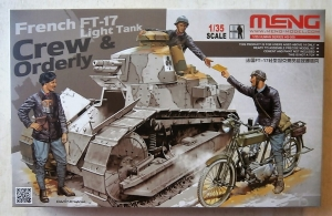 MENG 1/35 HS-005 FRENCH FT17 CREW AND ORDERLY