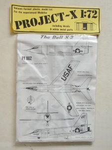 PROJECT X 1/72 PX002 THE BELL X-2