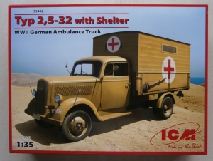 ICM 1/35 35402 TYP 2.5-32 WITH SHELTER GERMAN AMBULANCE TRUCK