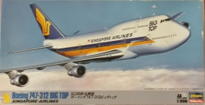 HASEGAWA 1/200 LD8 BOEING 747-312 BIG TOP SINGAPORE AIRLINES