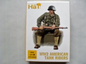 HAT INDUSTRIES 1/72 8265 WW2 AMERICAN TANK RIDERS