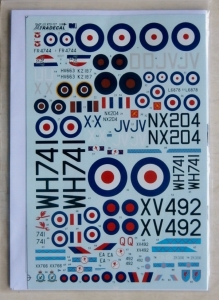 XTRADECAL 1/72 72127 RAF 6 SQUADRON HISTORY 1931-2010