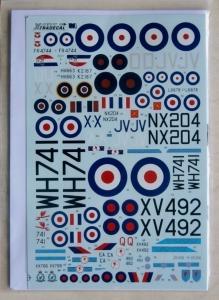 XTRADECAL 1/72 72127 RAF 6 SQUADRON HISTORY 1931-2010