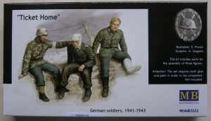 MASTERBOX 1/35 3552 TICKET HOME GERMAN SOLDIERS 1941-43