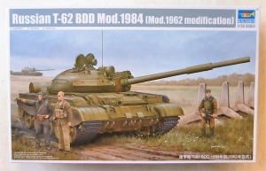 TRUMPETER 1/35 01553 RUSSIAN T-62 BDD Mod.1984  Mod.1962 MODIFICATION
