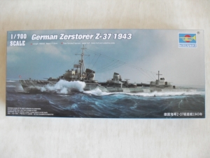 TRUMPETER 1/700 05791 GERMAN ZERSTORER Z-37 1943