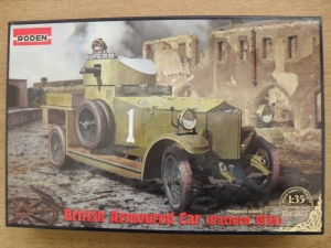 RODEN 1/35 803 BRITISH ARMOURED CAR PATTERN 1914