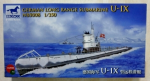 BRONCO 1/350 5008 GERMAN LONG RANGE SUBMARINE U-IX
