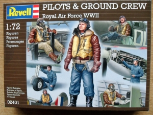 REVELL 1/72 02401 WWII RAF PILOTS   GROUNDCREW
