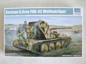 TRUMPETER 1/35 05550 GERMAN 8.8cm PaK-43 WAFFENTRAGER