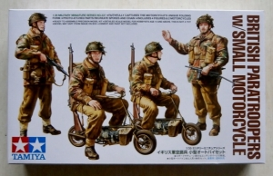 TAMIYA 1/35 35337 BRITISH PARATROOPERS with SMALL MOTORCYCLE