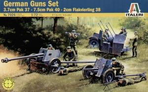ITALERI 1/72 7026 GERMAN GUNS SET PAK35/PAK40/FLAK38