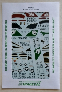XTRADECAL 1/72 72109 F-100C SUPER SABRES