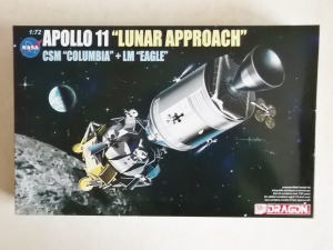 DRAGON 1/72 11001 APOLLO 11 LUNAR APPROACH CSM COLUMBIA   LM EAGLE