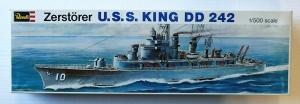 REVELL 1/500 H-453 USS KING DD 242