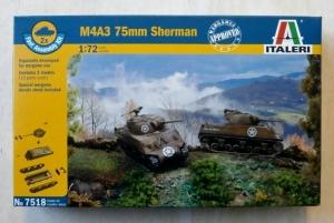 ITALERI 1/72 7518 M4A3 75mm SHERMAN