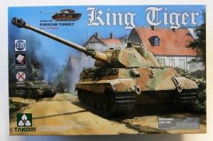 TAKOM 1/35 2074 KING TIGER Sd.Kfz.182 PORSCHE TURRET FULL INTERIOR