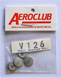 AEROCLUB 1/72 V126 4 x 1930 s WHEELS GLADIATOR GAUNTLET ETC