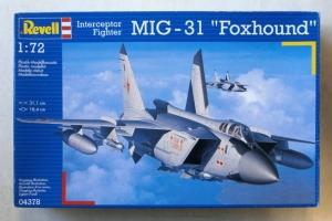 REVELL 1/72 04378 MiG-31 FOXHOUND