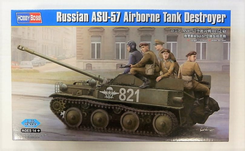 HOBBYBOSS 1/35 83896 RUSSIAN ASU-57 AIRBOURNE TANK DESTROYER