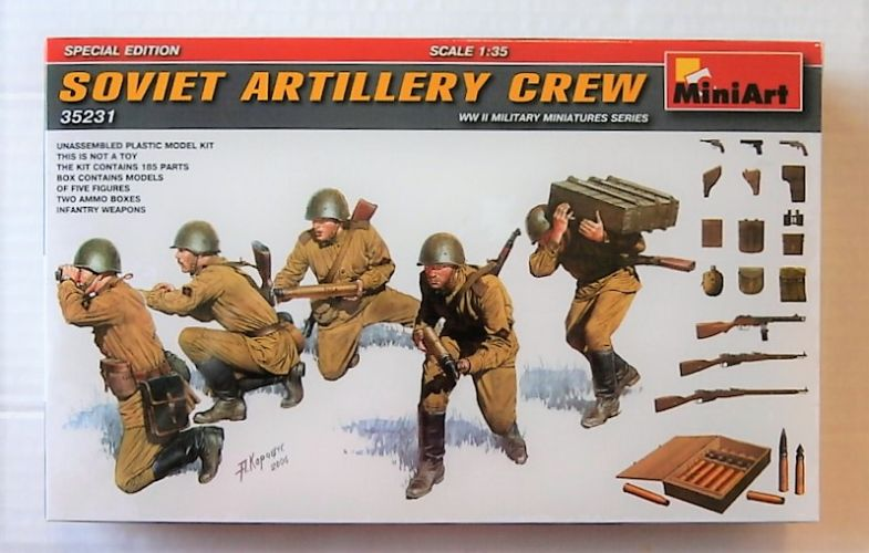 MINIART 1/35 35231 SOVIET ARTILLERY CREW