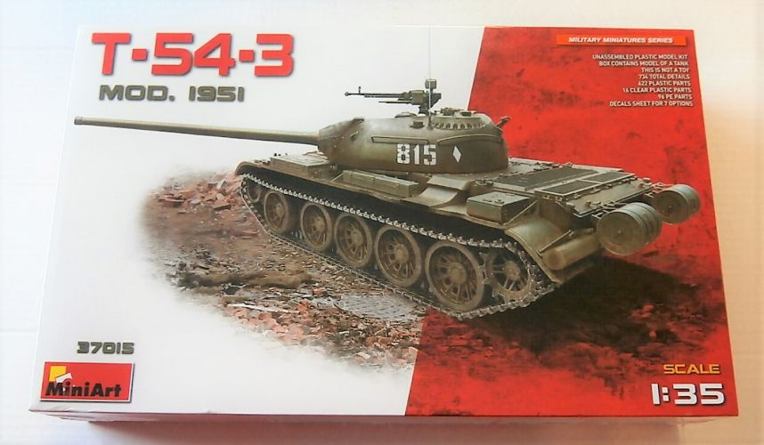 MINIART 1/35 37015 T-54-3 MEDIUM TANK MOD 1951