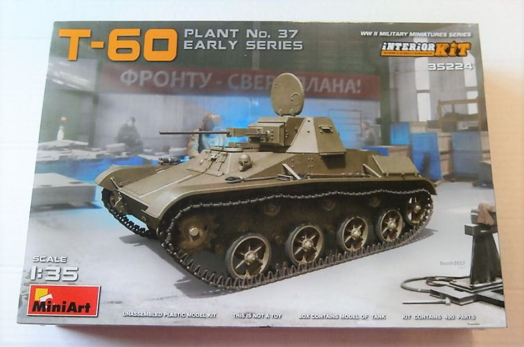 MINIART 1/35 35224 T-60 PLANT NO37 EARLY W/ INTERIOR