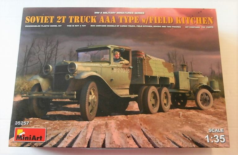 MINIART 1/35 35257 SOVIET 2T TRUCK AAA TYPE WITH FIELD KITCHEN