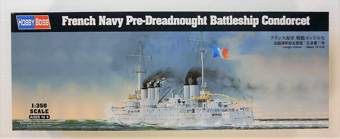 HOBBYBOSS 1/350 86505 FRENCH NAVY PRE-DREADNOUGHT BATTLESHIP CONDORCET