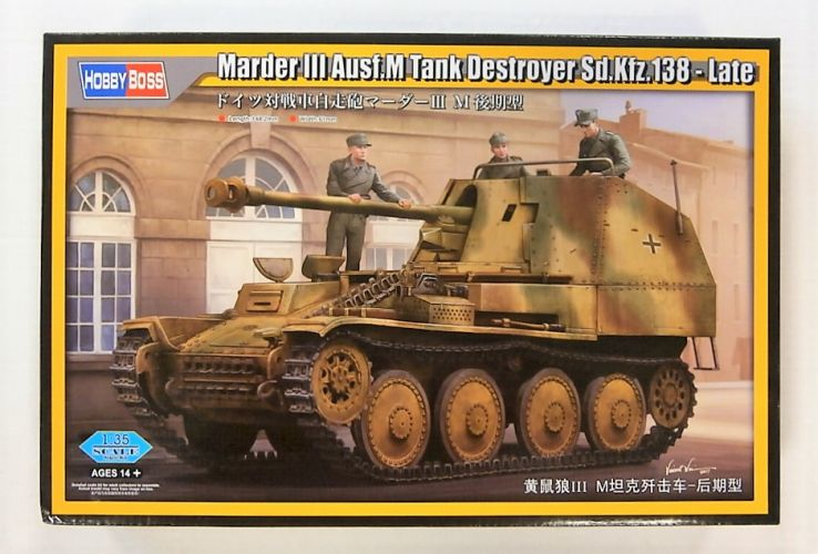 HOBBYBOSS 1/35 80168 MARDER III AUSF.M TANK DESTROYER SD.KFZ.138 LATE
