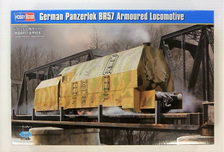 HOBBYBOSS 1/72 82922 GERMAN PANZERLOK BR57 ARMOURED LOCOMOTIVE