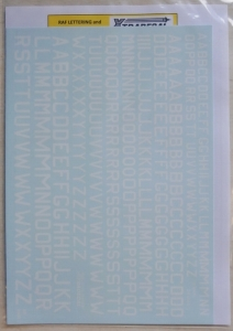 XTRADECAL 1/72 72199 RAF WHITE CODE LETTERS 18 24 30 INS
