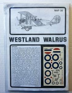 ESOTERIC 1/72 NAF-36 WESTLAND WALRUS