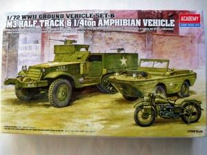 ACADEMY 1/72 13408 US M3 HALFTRACK   1/4 TON AMPHIBIAN