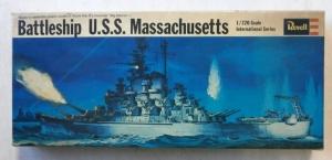 REVELL 1/720 H485 USS MASSACHUSETTS