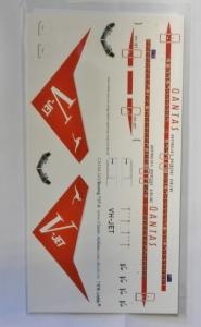 0 1/144 1046. 144-343 BOEING 737-8 QANTAS AUSTRALIA OVERSEAS AIRLINE