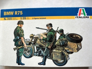 ITALERI 1/35 315 BMW R75 WITH SIDECAR