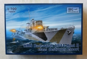 IBG MODELS 1/700 70004 HMS BADSWORTH 1941 HUNT II CLASS DESTROYER ESCORT