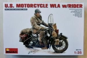 MINIART 1/35 35172 US MOTORCYCLE WLA w/RIDER