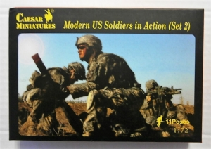 CAESAR MINATURES 1/72 094 MODERN US SOLDIERS IN ACTION SET 2