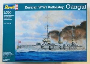REVELL 1/350 05137 RUSSIAN WWI BATTLESHIP GANGUT