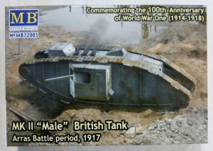 MASTERBOX 1/72 72005 Mk.II MALE BRITISH TANK ARRAS BATTLE PERIOD 1917
