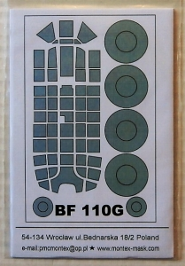 MONTEX 1/32 32053 MESSERSCHMITT Bf 110G  EXTERIOR CANOPY  MASKS FOR REVELL