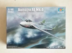 TRUMPETER 1/48 02874 VAMPIRE FB.Mk.5