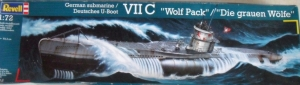 REVELL 1/72 05015 TYPE VIIC U-BOAT WOLF PACK  UK SALE ONLY